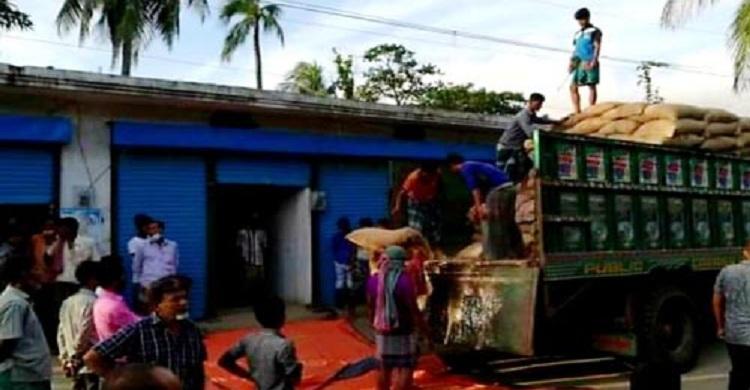 কমলনগরে ১১৬ টন সরকারি চাল-গম উদ্ধার, গোডাউন সিলগালা